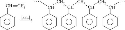 Polymerizácia  styrénu