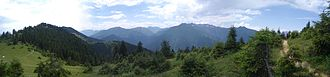 Pontic Mountains - Panoramic view of the Pontic Mountains in 2007