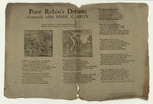 Poor Robin - Poor Robin's Dreams, commonly called Poor Charity