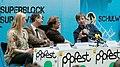 Popfest Wien 2011-04-14 Programmvorstellung01 Gabriela Hegedüs, Andreas Mailath-Pokorny, Christoph Möderndorfer, Robert Rotifer.jpg