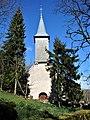 Porche et clocher de l'église Saint-Hippolyte d'Arguel.jpg