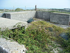 Verne Heavy Anti-Aircraft Battery - One of two mobile square emplacements at the battery.