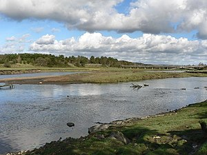 St Brides Major (community) - Portobello Island on the River Ogmore