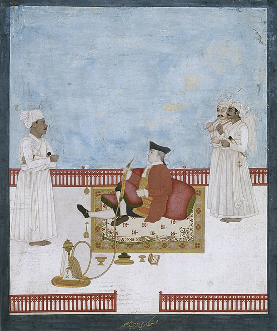 Company painting depicting an official of the East India Company, c. 1760 Portrait of East India Company official.jpg