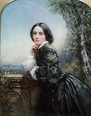 Portrait of lady in dark dress