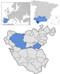 kartläge i Spanien