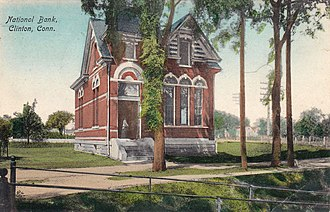 Clinton, Connecticut - National Bank in Clinton, about 1908