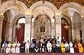 Pranab Mukherjee, the Vice President, Shri M. Hamid Ansari, the Prime Minister, Shri Narendra Modi, the Union Minister for Defence, Shri Manohar Parrikar and other dignitaries at the Defence Investiture Ceremony–II (1).jpg