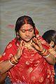 Praying Devotee - Chhath Puja Ceremony - Baja Kadamtala Ghat - Kolkata 2013-11-09 4285.JPG