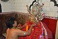 Priest Worshipping Batai Chandi Idol - Batai Chandi Mandir - Sibpur - Howrah 2012-10-02 0382.JPG