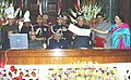 Prime Minister Shri Atal Bihari Vajpayee releasing a stamp commorating 200th session of Rajya Sabha in the Centre Hall of Parliament on 11 December, 2003.jpg