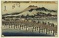 Print, Sanjo Bridge, Kyoto, in The Fifty-Three Stations of the Tokaido Road (Tokaido Gojusan Tsugi-no Uchi), ca. 1834 (CH 18608919).jpg