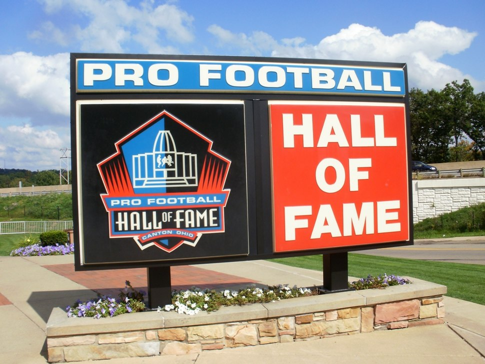 Pro Football Hall of Fame sign
