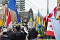 Protesters in front of Ukrainian consulate in Toronto Dec 8, 2013.JPG