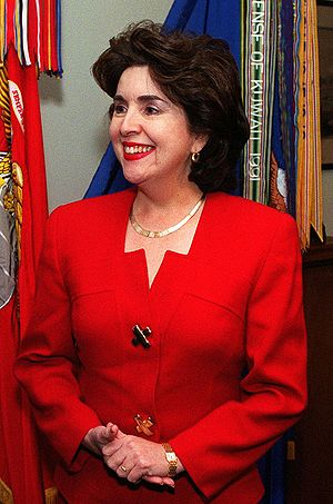 Sila María Calderón - Image: Puerto Rican Governor Sila Calderon at the Pentagon, Feb 27, 2001
