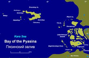 Labyrintovye Islands - The Labyrintovye Islands in the gulf of the Pyasina.