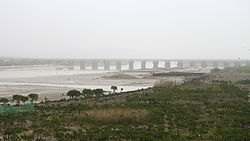 Luoyang Bridge over the estuary of the Luo River