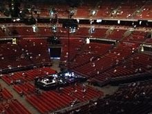 Interior View Of The Sydney Super Dome In Concert Configuration Various Seating Configurations Such As Minor Extension Stand Seen Here