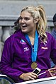 Queensland Netball Firebirds parade day-11 (19013070979).jpg