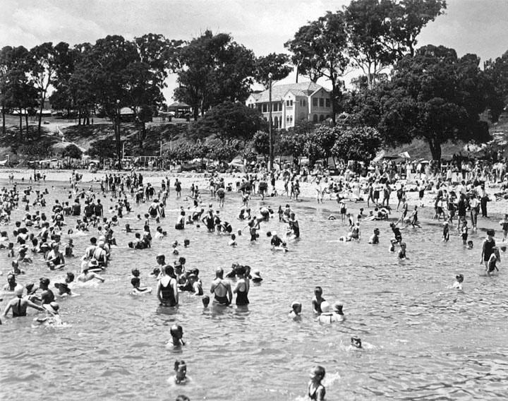 Queensland State Archives 2127 Beach scene Sandgate December 1937
