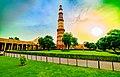 Qutub Minar at sunset in August.jpg