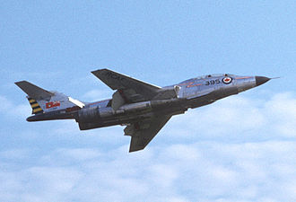 McDonnell CF-101 Voodoo - CF-101B Voodoo 17395 at the Bagotville Air Pageant, summer 1962. Notice the old-style Canadian flag.