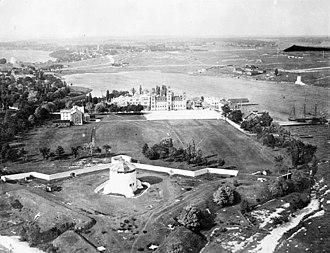 Point Frederick (Kingston, Ontario) - Aerial view of Point Frederick c. 1920