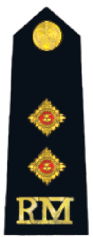 Lieutenant (British Army and Royal Marines) - Royal Marines insignia.