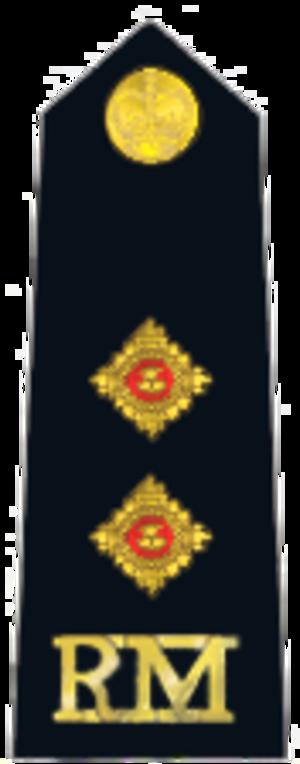 Lieutenant (British Army and Royal Marines) - Royal Marines insignia.
