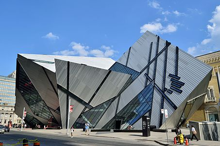 The Royal Ontario Museum in Toronto, Ontario, Canada by Daniel Libeskind  (2007)