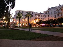 Rabat downtown at dusk time.jpg