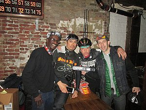 Alleycat race - Racers and organizers of the Monster Track annual Alleycat Race in New York City