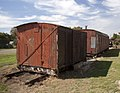 Railway carriages at the Whitton Museum.jpg