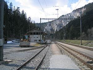 Versam-Safien (Rhaetian Railway station) - Image: Railwaystation Versam Safien Switzerland