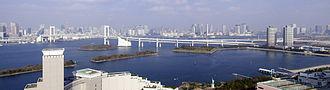 Tokyo Bay - Image: Rainbow Bridge,Tokyo Bay from Odaiba