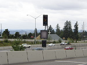 Ramp meter - A Portland, Oregon ramp meter