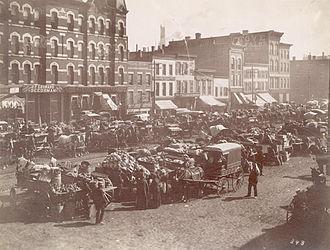 Randolph Street - Randolph Street Market, west of Desplaines Street, 1890