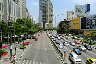 Criminal Court of Thailand - The court (left) on Ratchadaphisek Road.