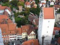 Ravensburg, Blick vom Mehlsack zum Gänsbühl und Obertor.JPG