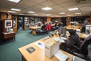 William Ready Division of Archives and Research Collections - Image: Reading room in The William Ready Division of Archives and Research Collections in Mills Memorial Library at Mc Master University