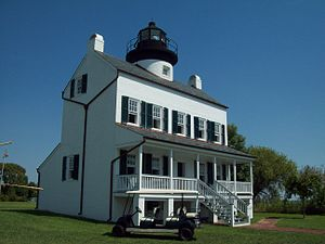 St. Mary's County, Maryland - Image: Rebuilt Blackistone Lighthouse View 1 Sept 09