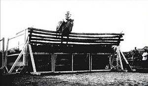 Jumping (horse) - The world record high jump, completed by Huaso and Captain Alberto Larraguibel in 1949.