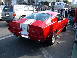 Red Shelby GT500E rear.JPG