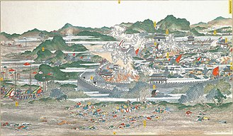 Taiping Rebellion - An 1884 painting of The Battle of Anqing (1861)