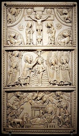 Regione mosana, placca d'avorio, 1100 ca. 01