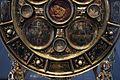 Regione mosana, reliquiario a flabello discoidale, 1340-50 con smalti del 1160-70 ca. e angeli del xiv secolo 04.jpg