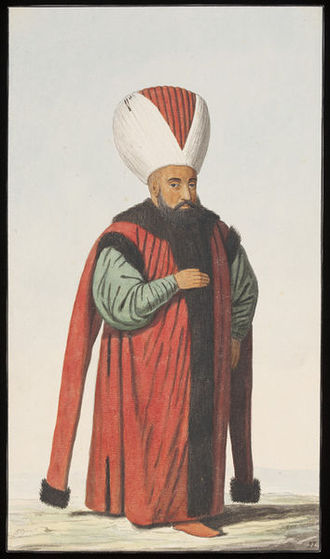 Reis ül-Küttab - Depiction of a Reis Efendi, ca. 1809