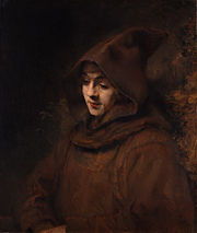 Rembrandt's son Titus, as a monk, 1660.