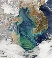 Remote sensing of ocean color in the Yellow Sea. Original from NASA. Digitally enhanced by rawpixel. - 45438870675.jpg