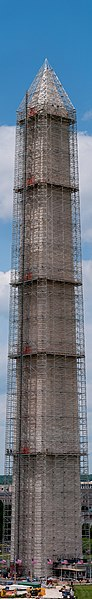 Repairing of the Washington Monument